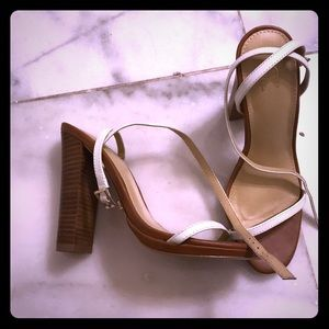 Shoes - White strappy sandals